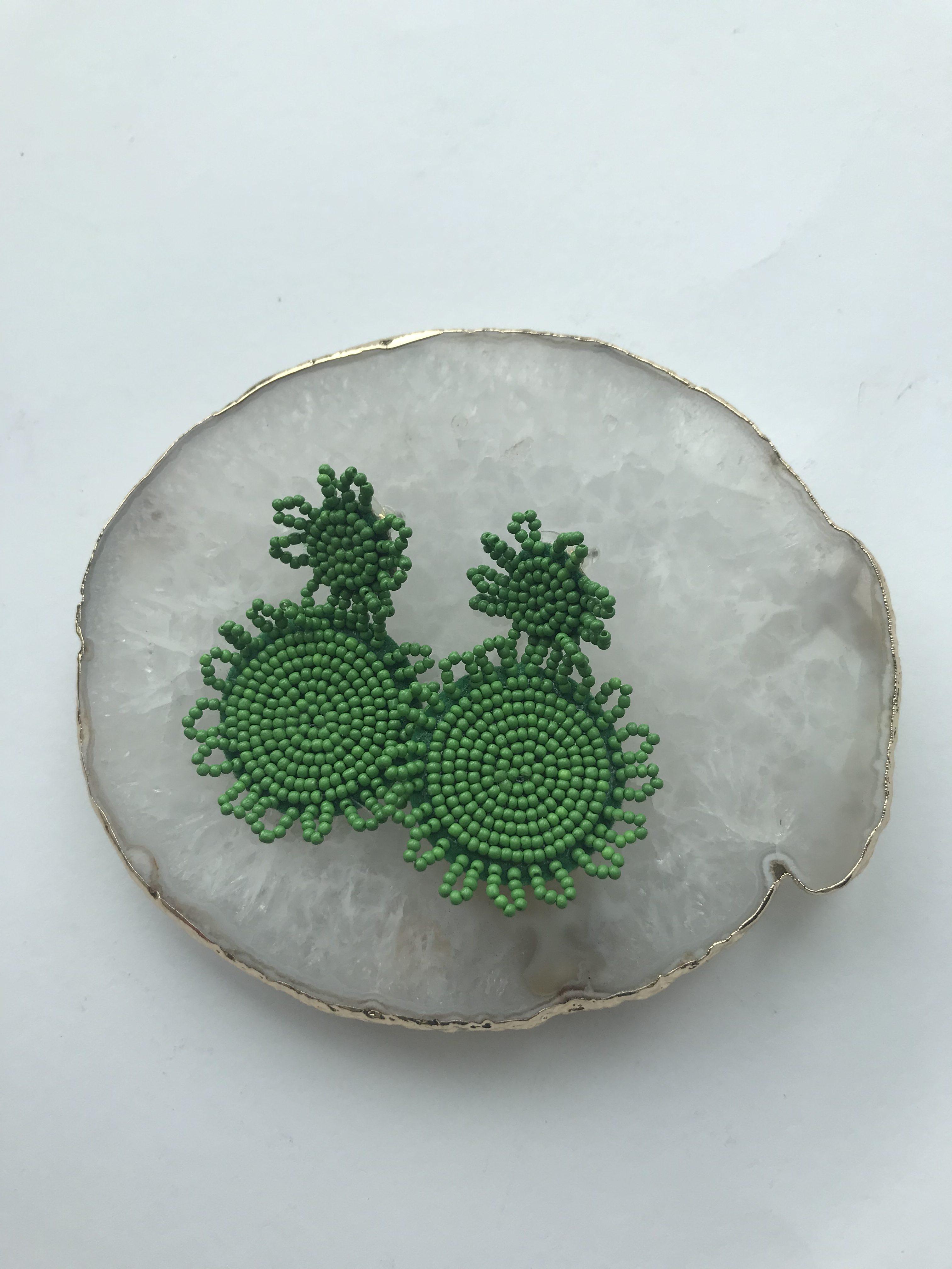 Oorbel groen 1
