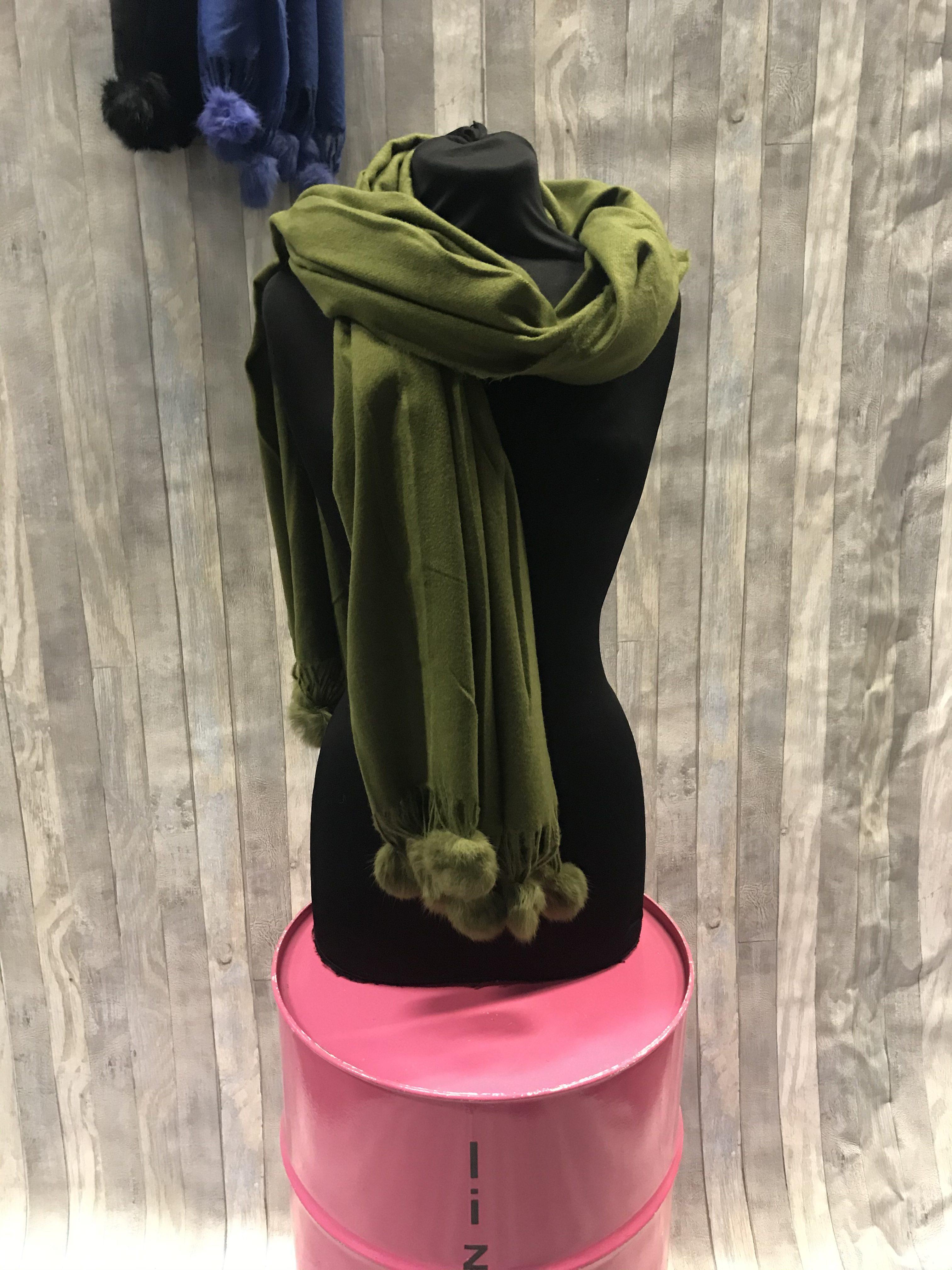 Sjaal Bolletje's Groen